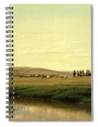 A Wagon Train On The Plains Spiral Notebook