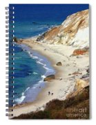 A Walk Along Aquinnah Beach Spiral Notebook