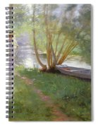 A Walk By The River Spiral Notebook