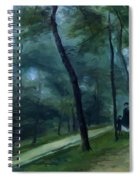 A Walk In The Woods Madame Lecoeur And Her Children 1870 Spiral Notebook