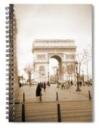 A Walk Through Paris 3 Spiral Notebook