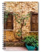 A Wall In Chania Spiral Notebook