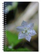 A Washed Flower Spiral Notebook