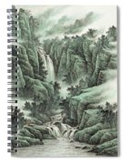 A Waterfall In The Mountains Spiral Notebook