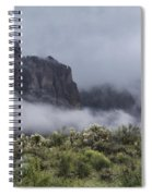 A Wave Of Fog On The Superstitions  Spiral Notebook
