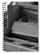 A Weathered Piano Spiral Notebook