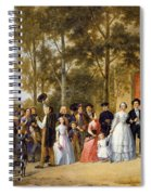 A Wedding At The Coeur Volant Spiral Notebook