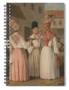 A West Indian Flower Girl And Two Other Free Women Of Color Spiral Notebook