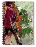 A White Rose For A Ballerina Spiral Notebook
