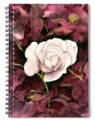 A White Rose Spiral Notebook