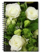 A White Roses Bouquet For You Spiral Notebook