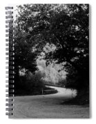 A Winding Road Bw Spiral Notebook