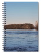 A Windswept River In March Spiral Notebook