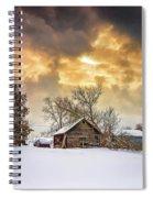A Winter Eve Spiral Notebook
