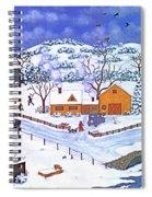 A Winter Evening Spiral Notebook