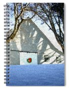 A Winter Holiday At The Farm Spiral Notebook
