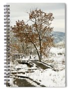 A Winter's Boardwalk Spiral Notebook