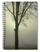 A Winter's Day In The Fog Spiral Notebook