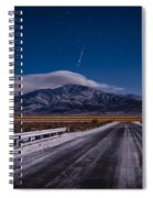 A Winters Meteor Spiral Notebook