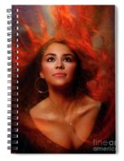A Wistful Look Up Warded  Spiral Notebook