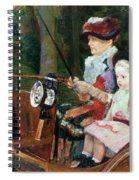 A Woman And Child In The Driving Seat Spiral Notebook