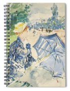 A Woman Seated At A Bench On The Avenue Du Bois Spiral Notebook