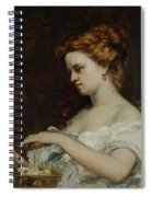 A Woman With Jewellery Spiral Notebook