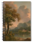 A Wooded Hilly Landscape Spiral Notebook