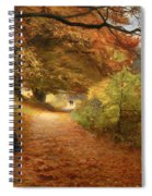 A Wooded Path In Autumn Spiral Notebook