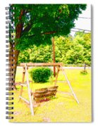 A Wooden Swing Under The Tree Spiral Notebook