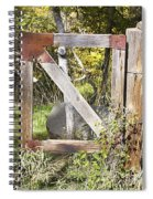 A Woodsy Gate Spiral Notebook