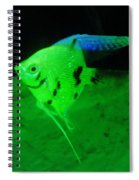 A Yellow Fish  Spiral Notebook