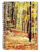 A Yellow Wood Spiral Notebook
