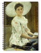 A Young Beauty In A White Hat  Spiral Notebook