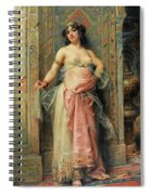 A Young Oriental Girl With A Perfume Burner Spiral Notebook