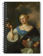 A Young Woman With A Parrot, Ary De Vois, 1660 - 1680 Spiral Notebook