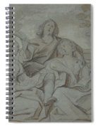 A Youth And Two Girls Singing , Jacob Jordaens Spiral Notebook