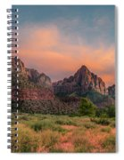 A Zion Sunset Spiral Notebook