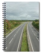 A27 Dual Carriageway Totally Clear Of Traffic. Spiral Notebook