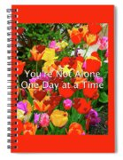 Aa One Day At A Time Spiral Notebook