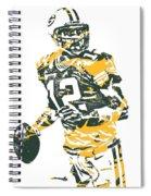 Aaron Rodgers Green Bay Packers Pixel Art 15 Spiral Notebook