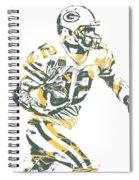 Aaron Rodgers Green Bay Packers Pixel Art 22 Spiral Notebook