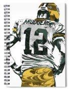 Aaron Rodgers Green Bay Packers Pixel Art 6 Spiral Notebook