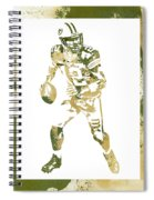 Aaron Rodgers Green Bay Packers Water Color Art 1 Spiral Notebook