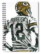 Aaron Rodgers Green Bay Packers Pixel Art 5 Spiral Notebook