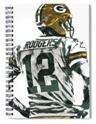 Aaron Rodgers Green Bay Packers Pixel Art 5 Spiral Notebook