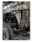 Abanded Tractor 3 Spiral Notebook