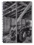 Abanded Tractor 5 Spiral Notebook
