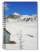 Abandon Building Alaskan Mountains Spiral Notebook