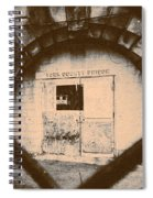 Abandon Hope All Ye Who Enter Here Spiral Notebook